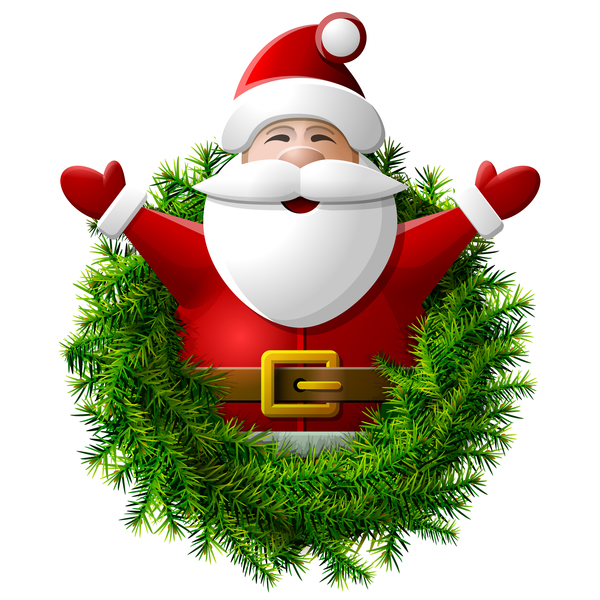 wreath santa pino Claus