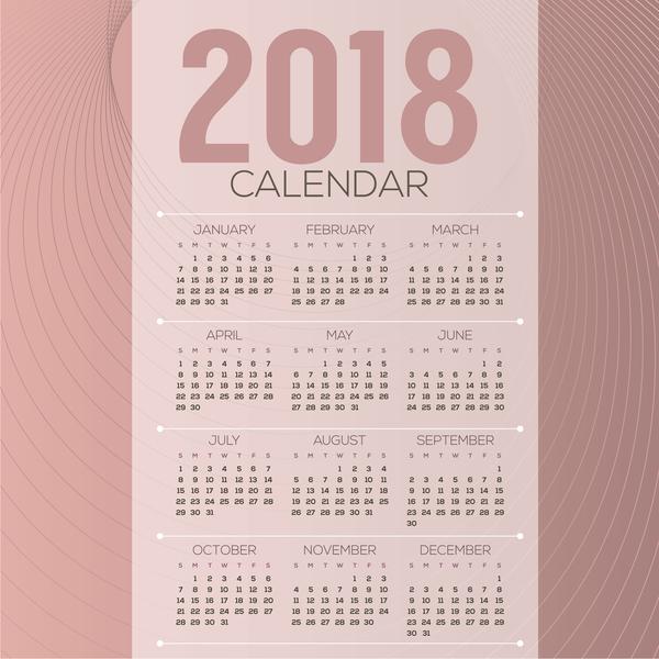 Kalender enkel 2018