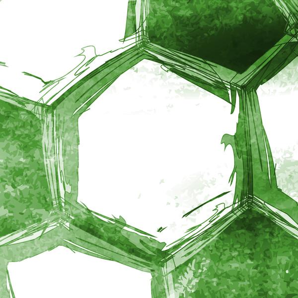 palla Calcio acquerello