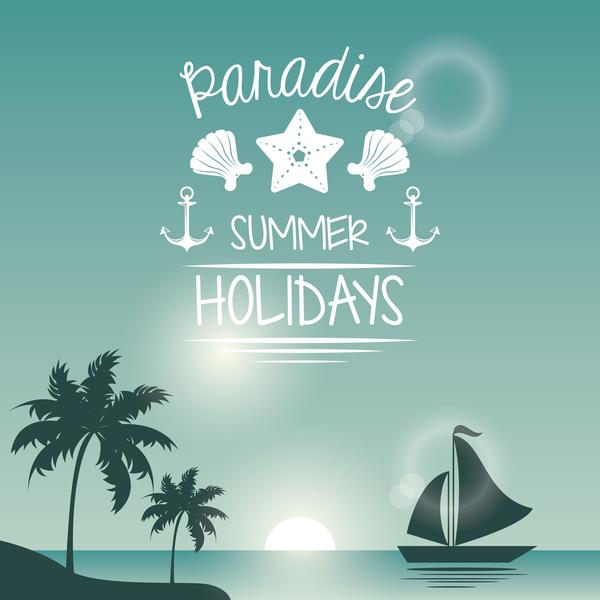 熱帯 時間 旅行 夏 休日 ポスター