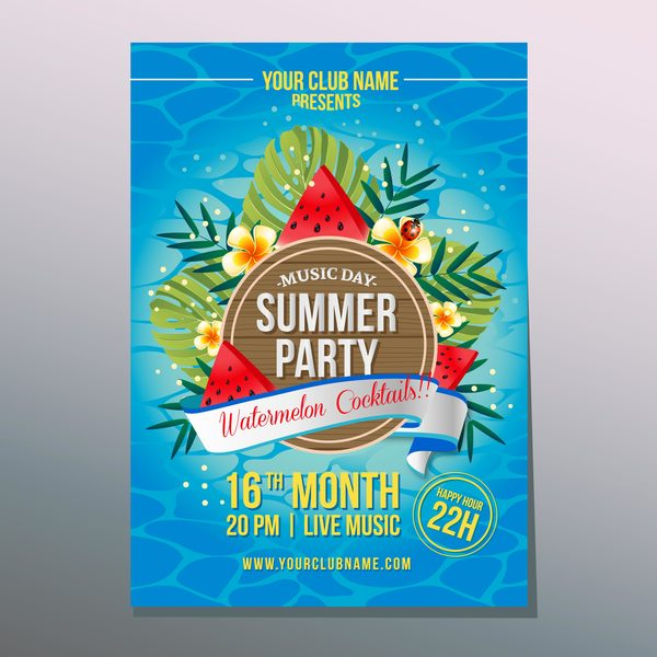 watermelon summer poster party