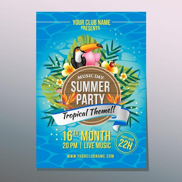 熱帯 夏 ポスター パーティー
