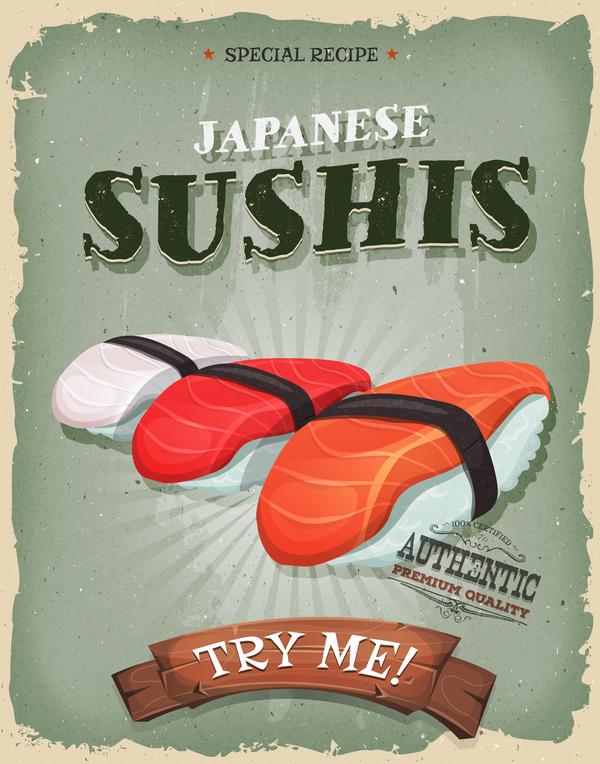 sushi flyer affisch