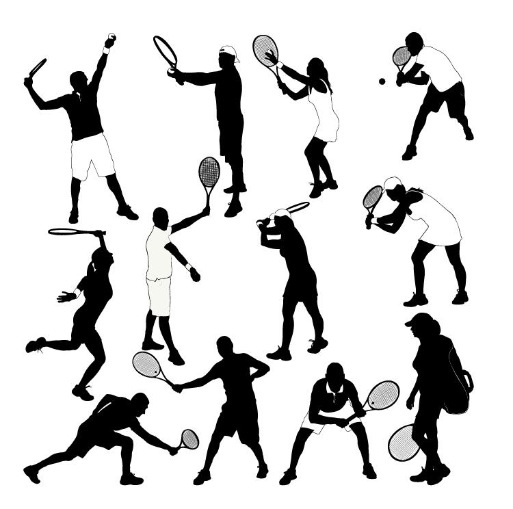 tennis silhouette ball