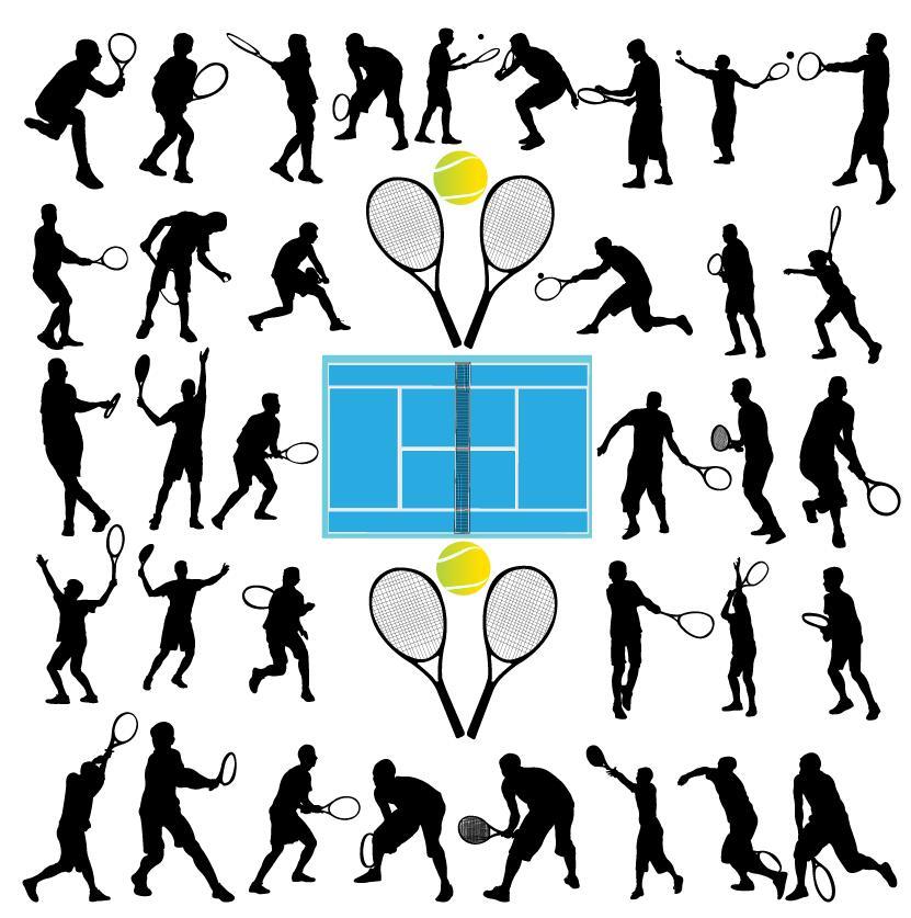 tennis silhouette ball