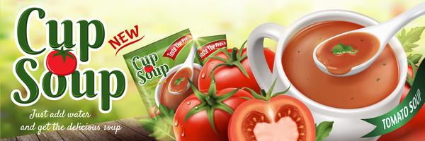 Tomaten Tasse Suppe poster