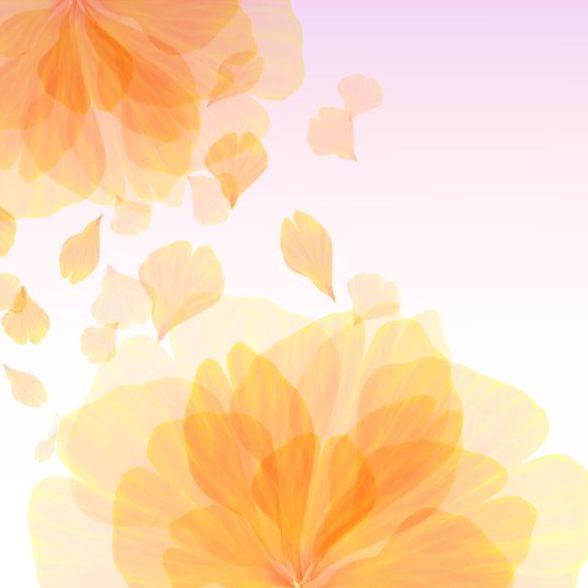yellow transparent petal flower