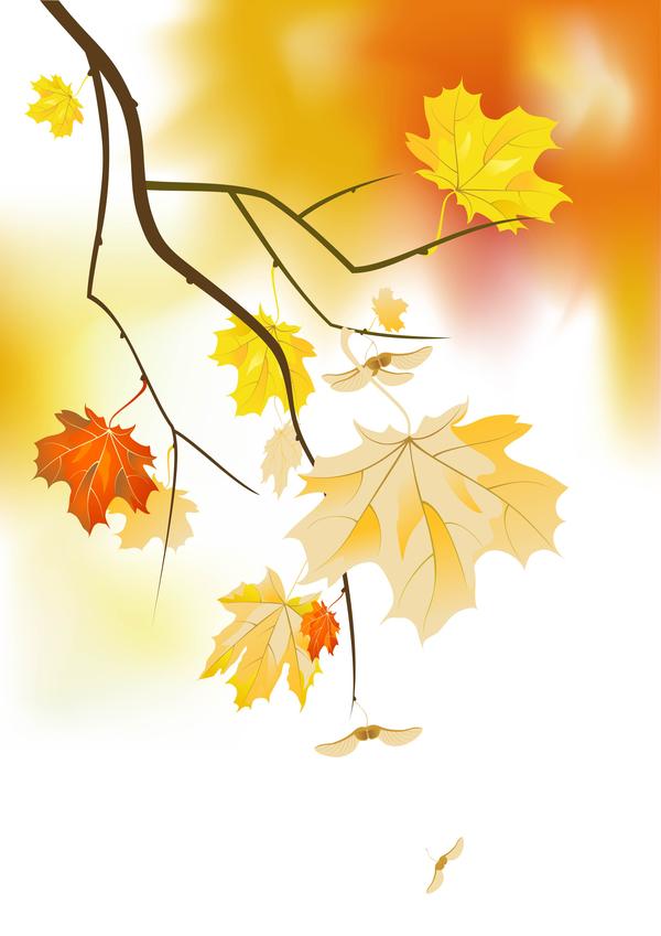 träd host guld Grenar blad