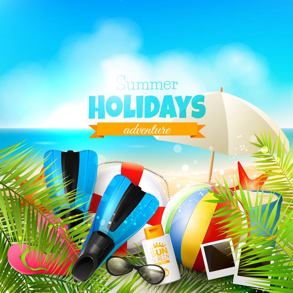 tropiska Strand sommar sky semester blå
