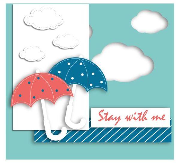 Regenschirm Karte cloud cartoon