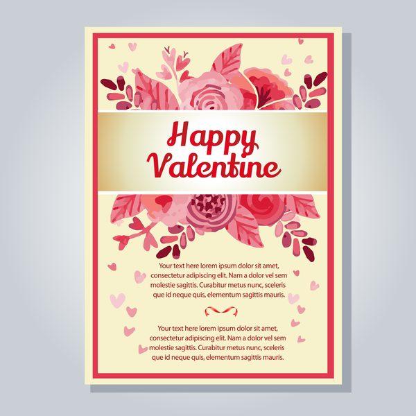 valentin Lettre fleurs Aquarelle