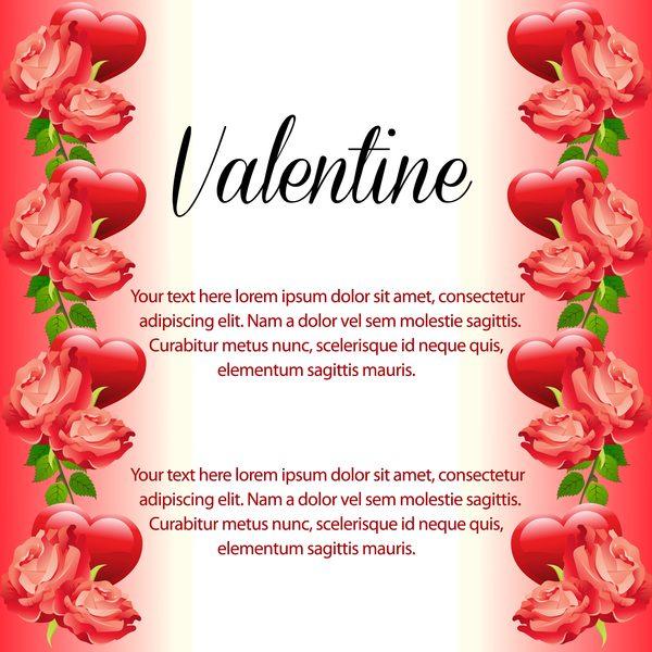 vertikal valentine rose red hjärta gränsen