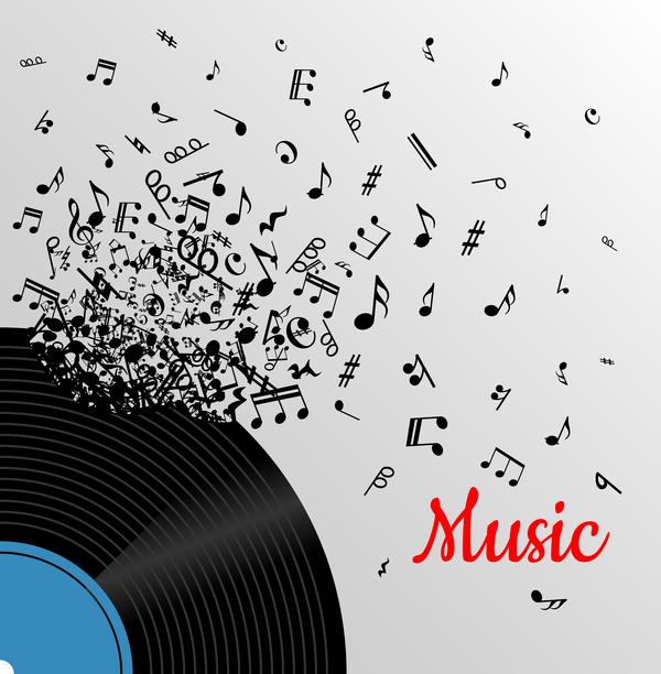 vinyl record note music