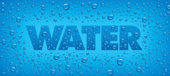 Wasser Tropfen text