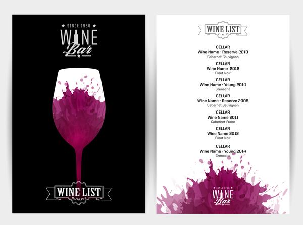 Macchie Di Vino Rosso Invito Bar Sfondo Vettoriale Welovesolo