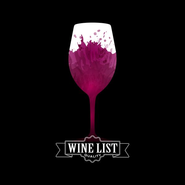 、黒、招待状、リスト、赤、ワインの汚れ