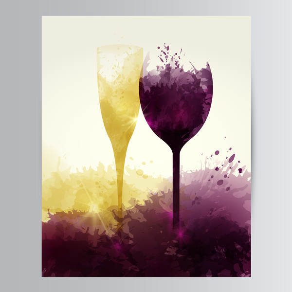 wine stains sparkling glasses