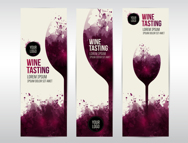 wine web Tasting stains invite glass banner