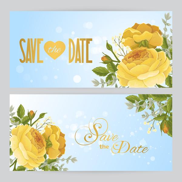 gelb Einladung Blumen