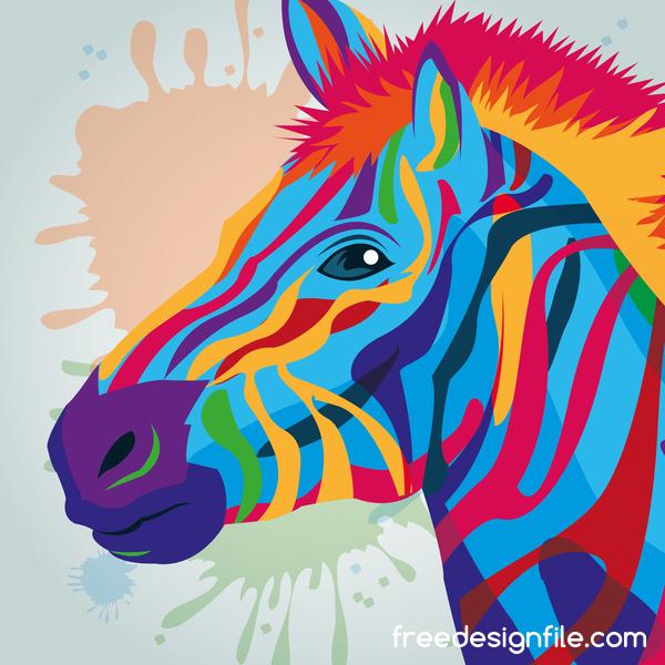 zebra main dessiné Aquarelle